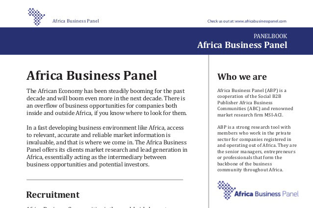 Panelbook Africa Business Panel